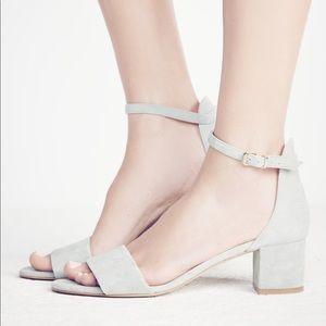 Free People Leather Block Heel Sandal